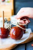 godis äpple, jul efterrätt foto
