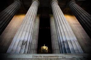 vidvinkelvy över lincoln memorial foto