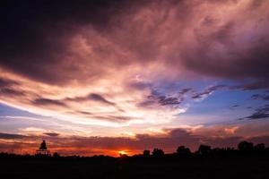 färgglad solnedgång foto