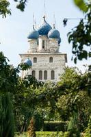 Moskva, Ryssland: utsikt över kolomenskoye gård och park foto