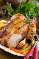 friterad kyckling. festlig maträtt. foto