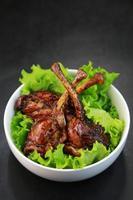 friterad kyckling foto