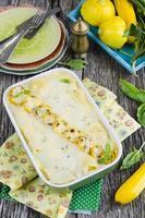 vegetabilisk lasagne foto