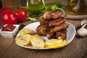 kycklingvingar foto