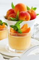 panna cotta med aprikoser foto