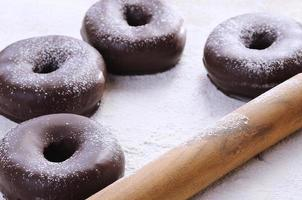choklad munkar foto