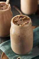 hembakad cookie deg milkshake foto