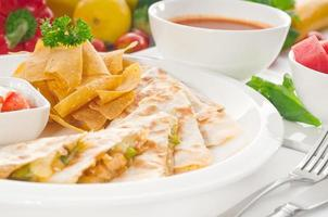 original mexikansk quesadilla de pollo foto