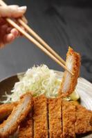 japansk fläskkotlett tonkatsu foto