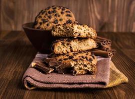 Chocolate chip cookies. foto