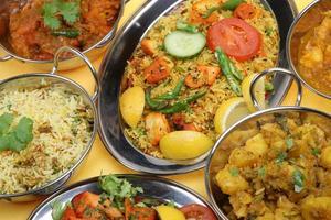 indisk currymåltid foto