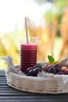hemlagad hälsosam juice foto