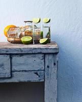 tequila och citrusfrukter foto