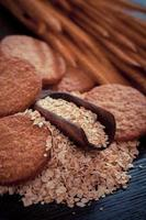 havremjöl cookie foto