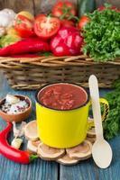 hemlagad ekologisk tomatsås foto