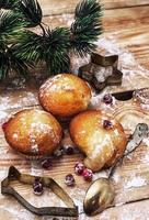 svampkaka för nyårsbuffé foto