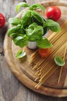 begreppet italiensk mat med pasta foto