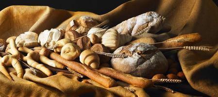stilleben med bröd foto