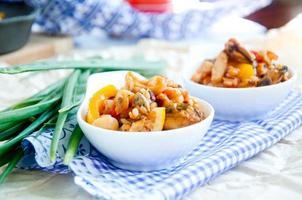 skaldjur paella italiensk nationell maträtt foto