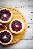röda apelsiner foto