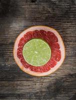 färska citrusfrukter foto