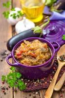 aubergine puré foto