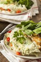 hälsosam spenat äggvita omelett