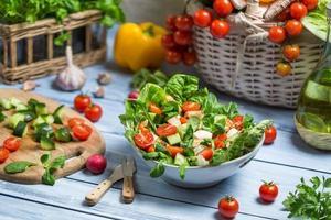 hälsosam färsk vårsallad