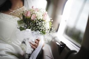 bröllop bukett foto