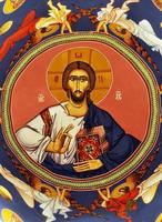 fresco av jesus christ på kupolen