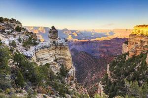 Grand Canyon vid solnedgången foto