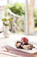 blåbär dessert foto