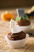 cupcake ghost cookie närbild foto
