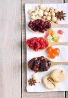 blandning av torkad frukt foto