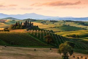 typiskt landskap i Toscana