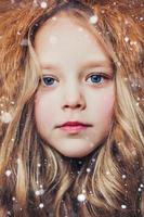lilla fröken vinter foto