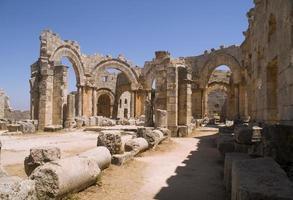 kyrkan av helgonet Simeon i Syrien foto