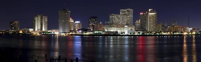 downtown new orleans, Louisiana (panoramautsikt) foto