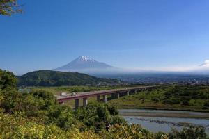vacker mt. fuji från shizuoka pref. foto