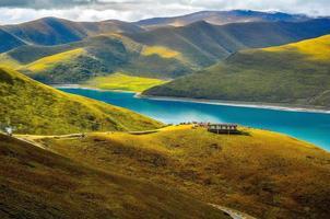 höst i tibet foto
