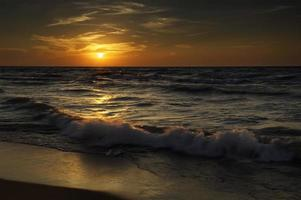 solnedgång på indianadyner foto