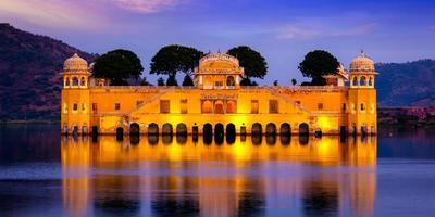 jal mahal vattenpalats. jaipur, rajasthan, Indien foto