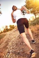 kvinnlig löpare foto