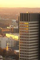 skyskrapa i boston vid solnedgången