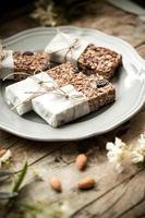 hemlagad granola energibar foto