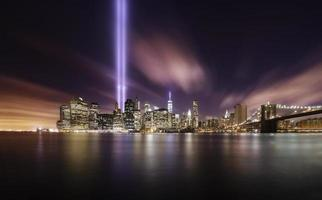 hyllningsljus, manhattan new york foto