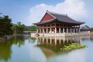 gyeongbokgung palats, Seoul, Sydkorea. foto