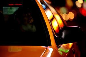 new york city taxi med bokeh foto