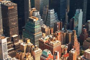 Flygfoto över New York City manhattan skyline foto