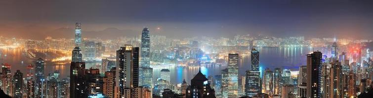 Hong Kong på natten